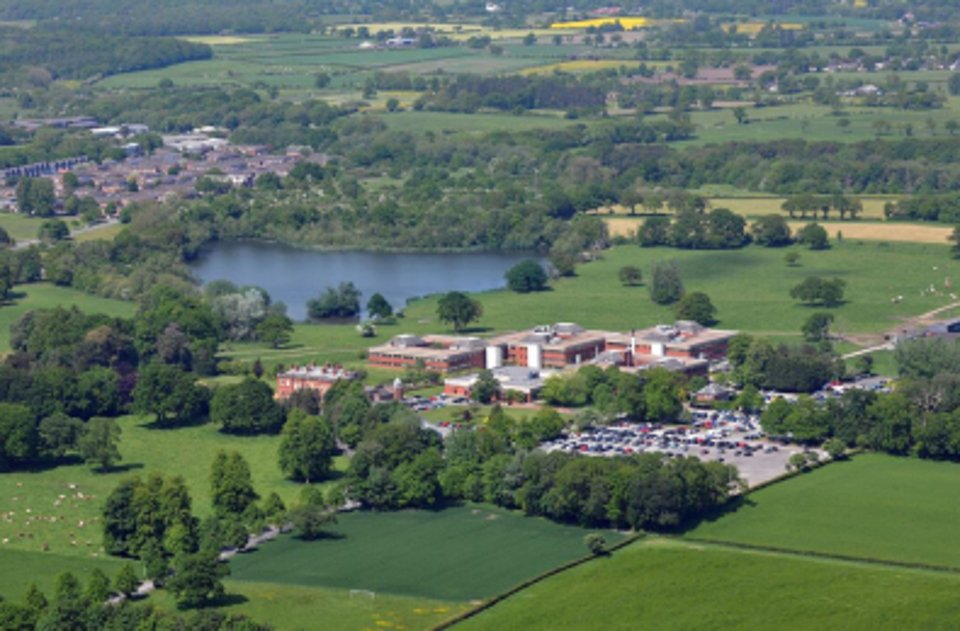 An aerial shot of Chesire