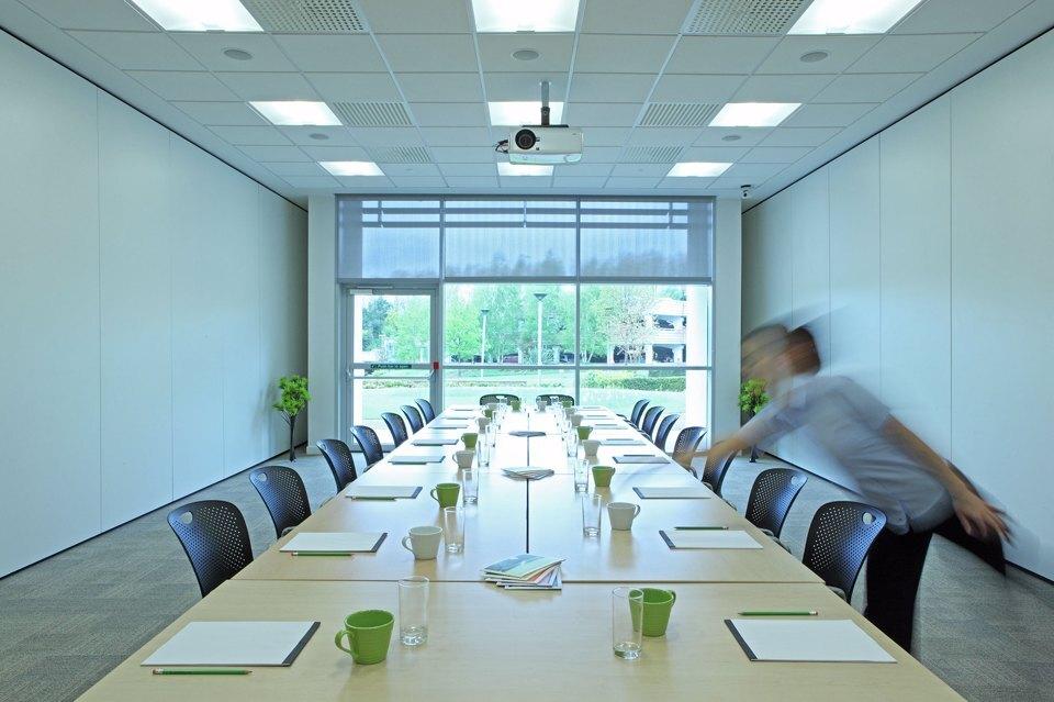 A large meeting room at Alderley Park