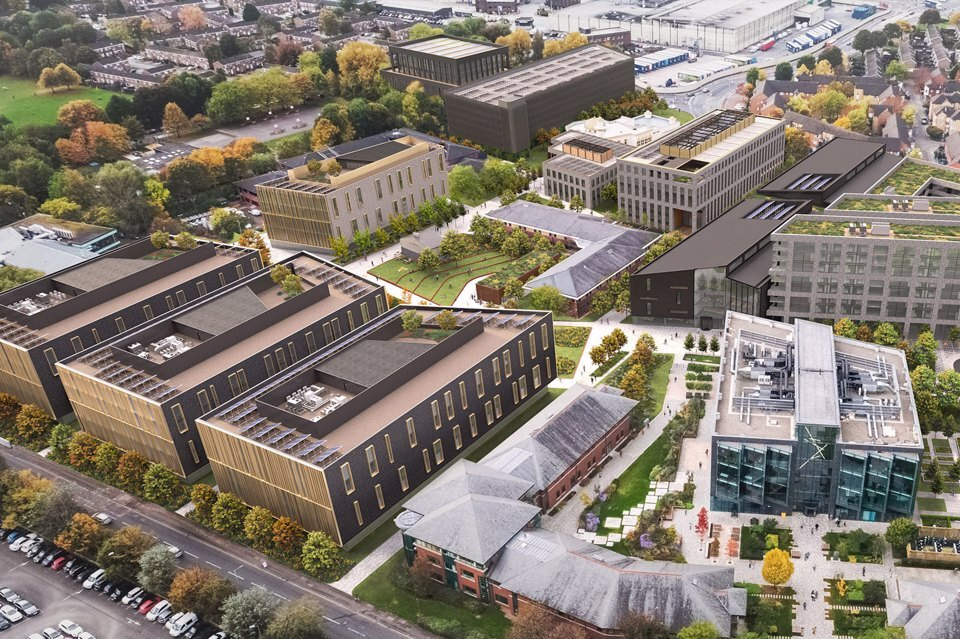 Aerial view of Base at Manchester Science Park
