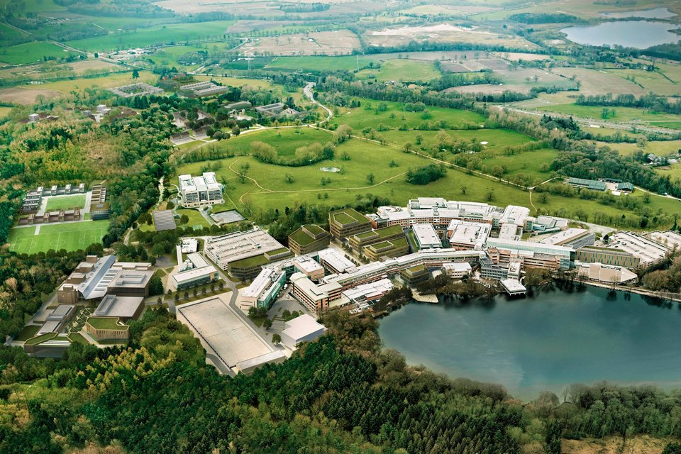 Birds eye view of Bruntwoods Alderley Park Campus